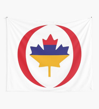 Armenian Canadian Multinational Patriot Flag Series Wall Tapestry