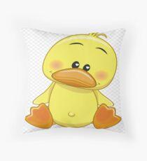 Doody Duck Throw Pillow