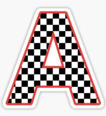 alpha checkered Sticker