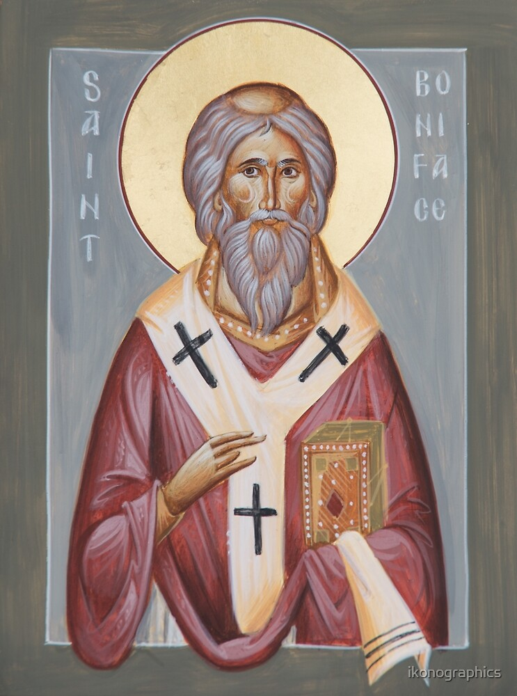 St Boniface of Germany by ikonographics