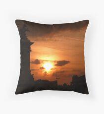 Sunset Streaks Throw Pillow