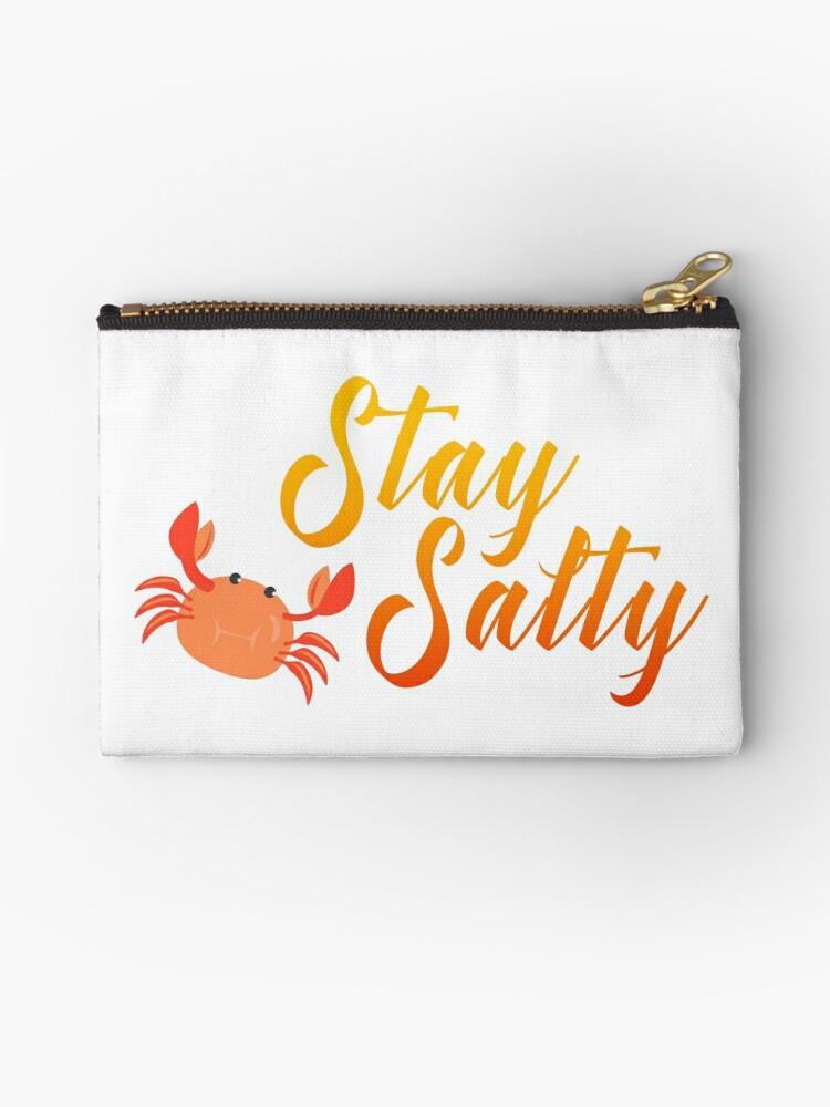 "Original Hand-drawn ""Stay Salty"" Funny Inspirational Design by baddawge"