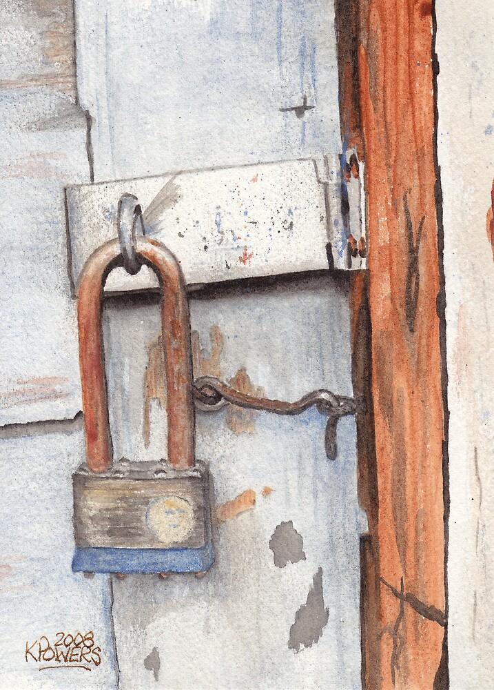 Garage Lock Number One by Ken Powers