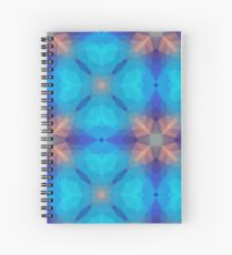 violet triangles orange colorful seamless repeat pattern Spiral Notebook