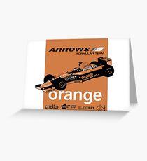 ARROWS A21 - 2000 F1 SEASON Greeting Card