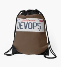 Devops plate Drawstring Bag