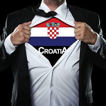 Men's Croatia World Cup Super Hero  by RLVantagePoint