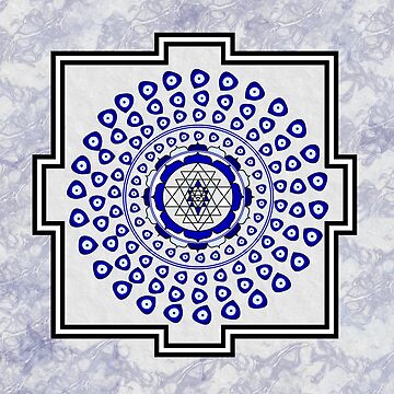 108 Evil Eye Sri Yantra by umeimages