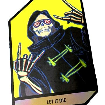 Let It Die trading Card Uncle Death Grim Reaper by dubukat