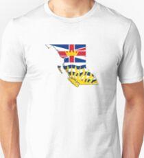 British Columbia Flag Map  Unisex T-Shirt