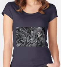 Charcoal Women's Fitted Scoop T-Shirt