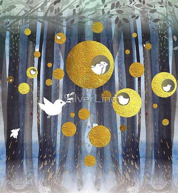 Golden nests by SilverLind