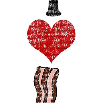 Vintage I heart Bacon  by Rajee