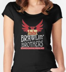 Brawling Brothers Design 1 Women's Fitted Scoop T-Shirt