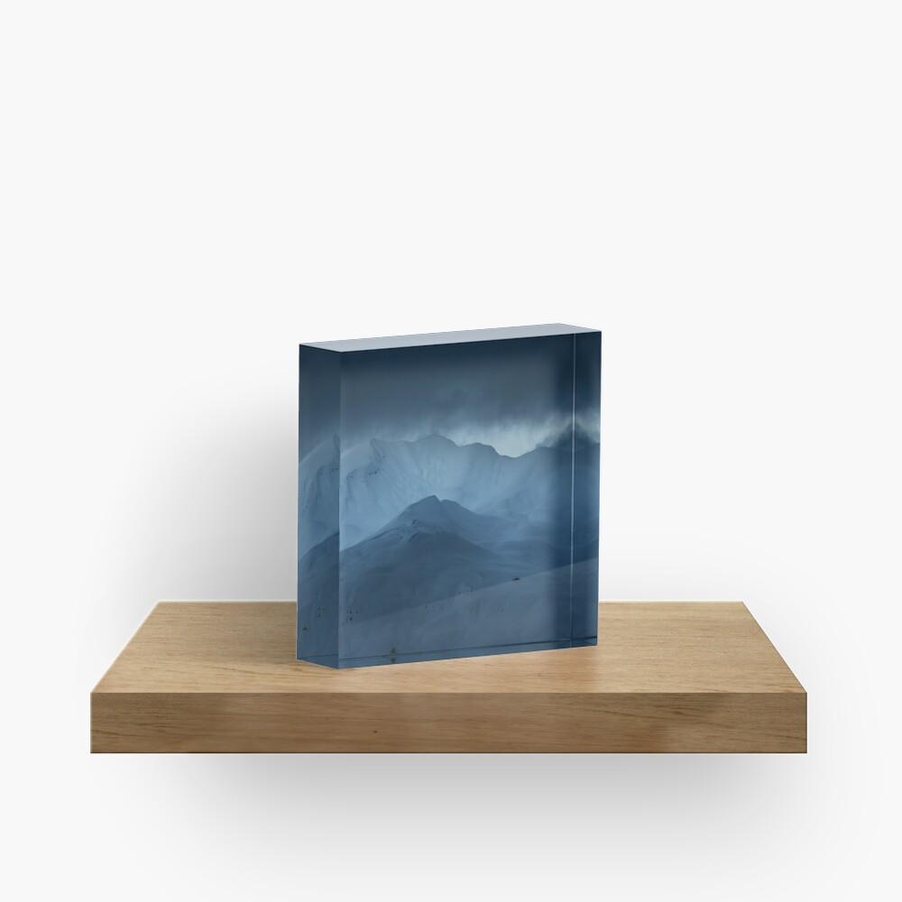 Bloc acrylique «Cimes Enneigées»