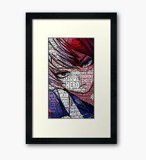Shoto Todoroki - Boku no Hero Academia | My Hero Academia Framed Print