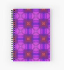 magenta violet color polygon seamless colorful repeat pattern Spiral Notebook