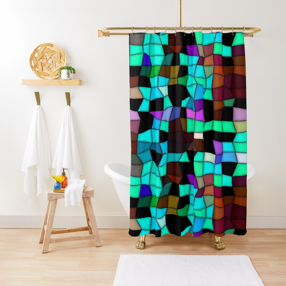 Mosaic pattern Shower Curtain