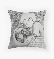 The Little Prince and Rose Throw Pillow
