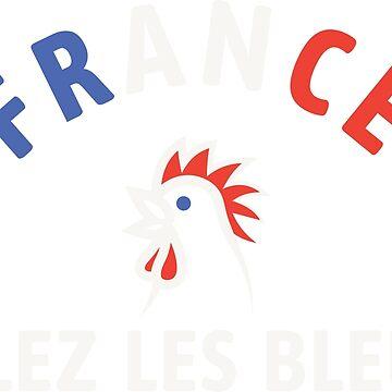 Allez Les Bleus France Soccer Football by Fibr