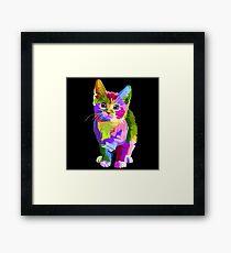 Neon Kitty  Framed Print
