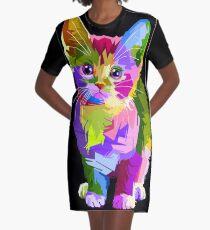 Neon Kitty  Graphic T-Shirt Dress