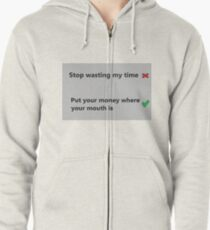 Wasting Time Quote Sweatshirts & Hoodies | Redbubble