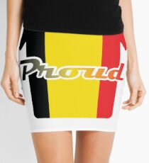 Belgium Fifa World Cup Proud Cool Design for Belgium Champions Supporters Fans Mini Skirt