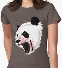 Panda Ladies Womens Fitted T-Shirt