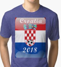 Croatia Soccer shirt Team Russia 2018 TShirt Football Tri-blend T-Shirt
