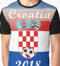 Croatia Soccer shirt Team Russia 2018 TShirt Football Graphic T-Shirt