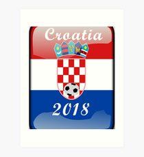 Croatia Soccer shirt Team Russia 2018 TShirt Football Art Print