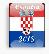 Croatia Soccer shirt Team Russia 2018 TShirt Football Metal Print