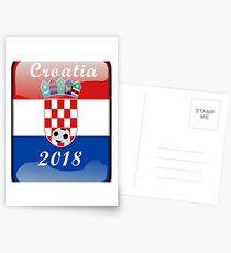 Croatia Soccer shirt Team Russia 2018 TShirt Football Postcards