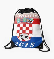 Croatia Soccer shirt Team Russia 2018 TShirt Football Drawstring Bag