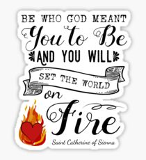 St. Catherine of Sienna Religious Sayings  Sticker
