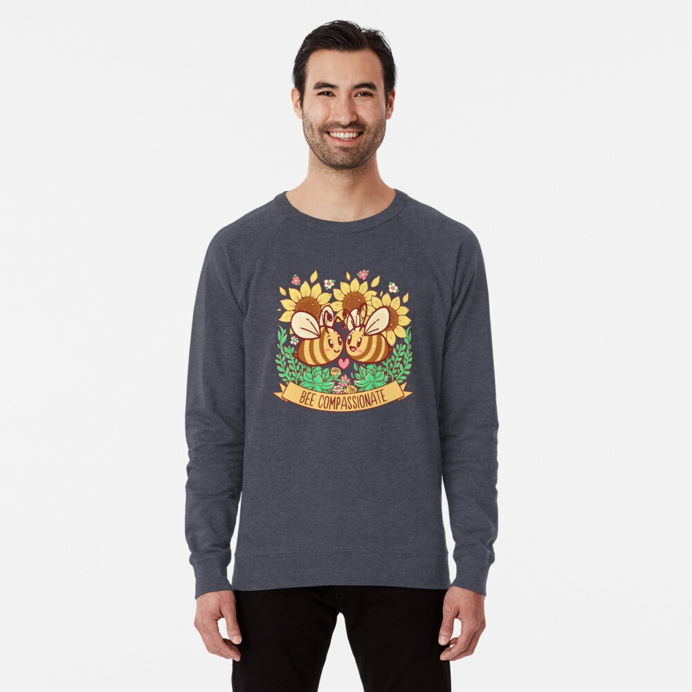 Bee Compassionate - Save the Bees Lightweight Sweatshirt