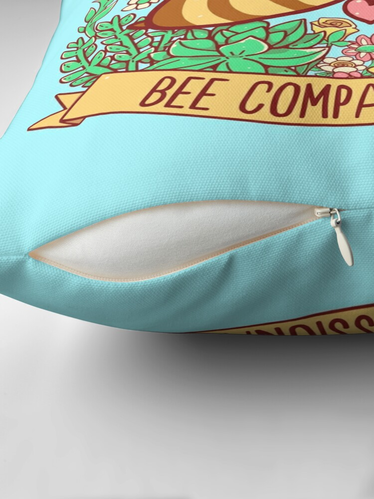 Alternate view of Bee Compassionate - Save the Bees Throw Pillow