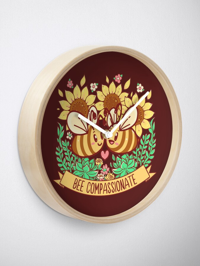 Alternate view of Bee Compassionate - Save the Bees Clock