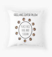 Freelance Editor Pillow Throw Pillow