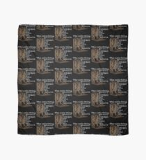 The Only Thing Between a Cowboy and His Land are His Boots Novelty Gifts. Scarf