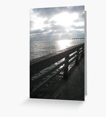 Ocean Pier Greeting Card