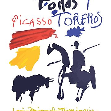Toros Y Toreros (Bulls and Bullfighters) Artwork By Pablo Picasso T Shirt, Book Cover by clothorama