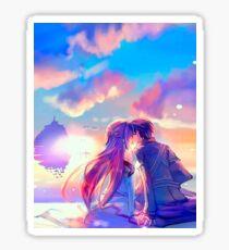 Kirito + Asuna (SAO) STICKERS AND POSTER  Sticker