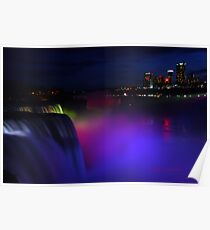 Colorful Niagara falls Poster
