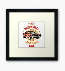 Plymouth Road Runner - American Muscle Gerahmtes Wandbild