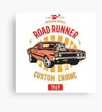 Plymouth Road Runner - American Muscle Leinwanddruck