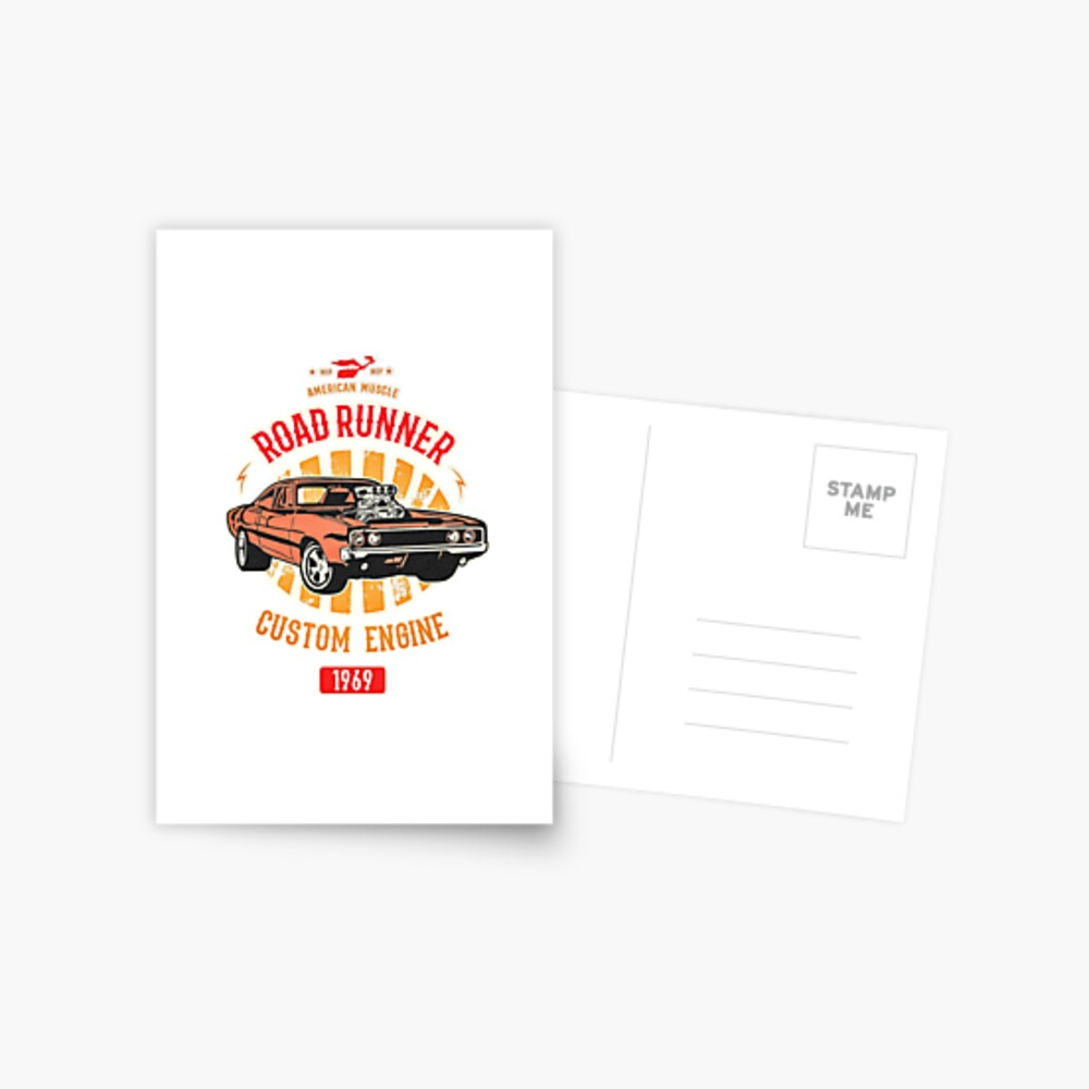 Plymouth Road Runner - American Muscle Postkarte