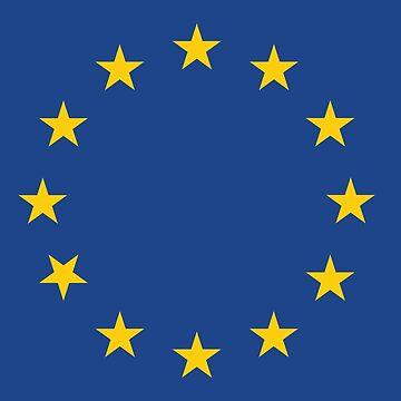 EU flag by Tjaelfe
