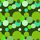 Big 70s polka dots in green by pASob-dESIGN